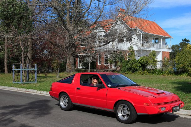 Electric Starion on the road